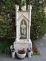 Crucifix detail, Mary statue (1878), 2019 Siófok.jpg