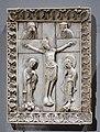 Crucifixion, Northern Rhineland, perhaps Köln, 1050-1100, ivory - Bode-Museum - DSC03623.jpg