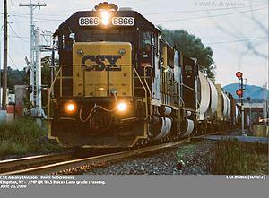 River Subdivision (CSX Transportation) - Image: Csxkingston 2acr