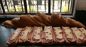 Cuban sandwich - Cuban sandwiches ready to be pressed at La Segunda Bakery in Ybor City, Tampa