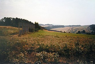 Iron Curtain - Fence along the East/West border in Germany (near Witzenhausen-Heiligenstadt)