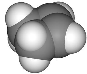 Cyclobutene - Image: Cyclobutene 3D