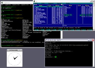 Cygwin - Image: Cygwin X11 rootless Win XP