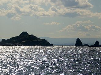 Cyclopean Isles - Panoramic view of the Cyclopean Isles as seen from Capo Mulini