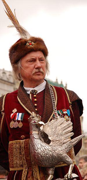 Czesław Dźwigaj - Czesław Dźwigaj during festivities of Kraków's Hunter's Guild in 2008