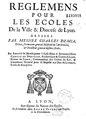 Démia - Règlemens pour les écoles de la ville et diocèse de Lyon.pdf