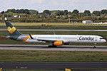 D-ABOL Boeing 757-300 Condor DUS 2018-09-01 (2a) (42685553690).jpg