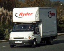 A Ryder Ford Transit Van In The United Kingdom