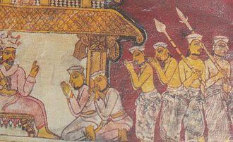 Kandyan Era Frescoes - Dahamsonda Jathakaya, Kudakatunoruwa Reswehera Rajamaha Viharaya