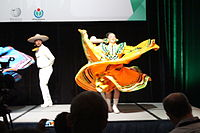 Dancing at the Wikimania 2015 Opening Ceremony IMG 7625.JPG