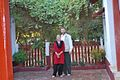 Daniel Oerther poses with Sarah Oerther outside of Ghandi residence in Ambedabad Gujarat India.jpg