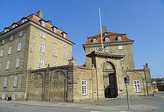 Sølvgade Barracks building in Copenhagen