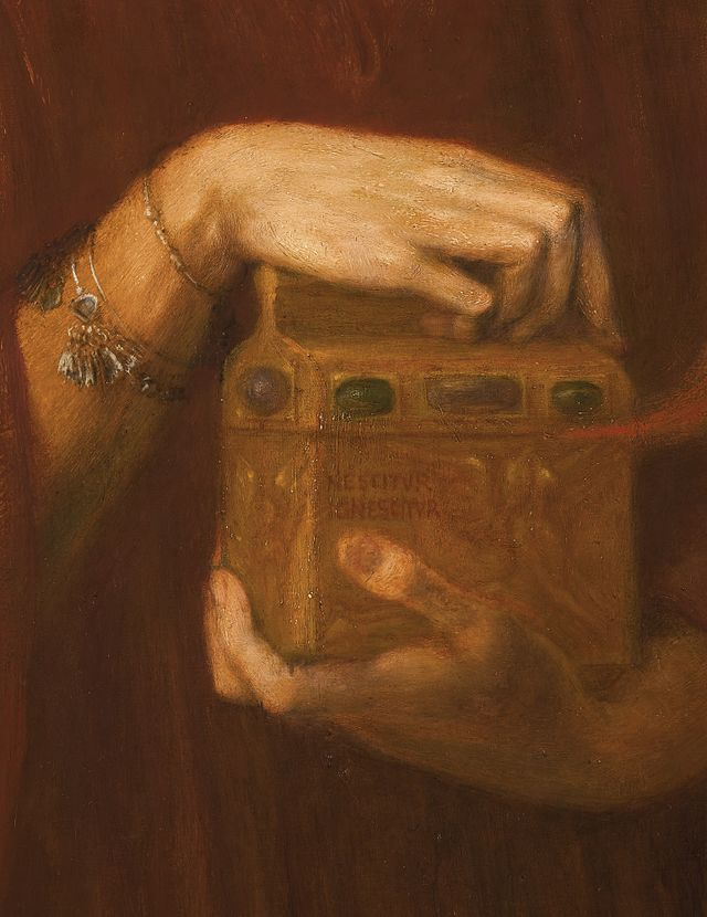 From commons.wikimedia.org: Dante Gabriel Rossetti - Pandora (detail 2) {MID-294991}