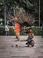 Danza del Fuego performance outside Museo Nacional de Antropología, Chapultepec, CDMX 03.jpg