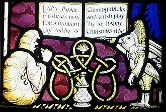 All Saints' Church, Daresbury - Image: Daresbury window 2