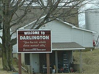 Darlington, Indiana Town in Indiana, United States