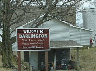 Darlington, Indiana - Image: Darlongton sign