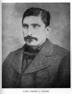 David L. Payne American pioneer, father of Oklahoma