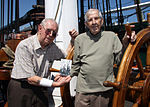 David Guay, left, and Raymond Drozynski, pose for a photograph during their aboard the heavy frigate USS Constitution in Charleston, Mass., Aug. 28, 2013 130828-N-KM734-015.jpg