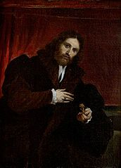 Portrait of a Man in a Fur-Lined Coat Holding a Lion's Claw (after Lorenzo Lotto)