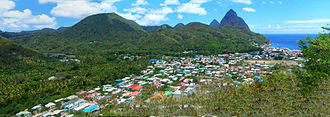 Saint Lucia - A view of Soufrière.