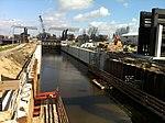 De Julianasluis in Gouda met de nieuwe kolk in aanbouw (04).JPG