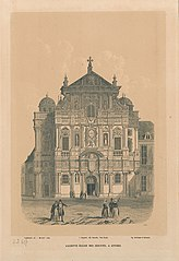 De kerk van de Jezuïeten, de Sint-Carolus Borromeuskerk, te Antwerpen