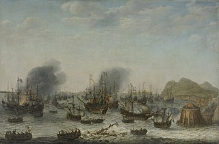The defeat of the Spanish at Gibraltar by a Dutch fleet under the command of Admiral Jacob van Heemskerck, 25 April 1607