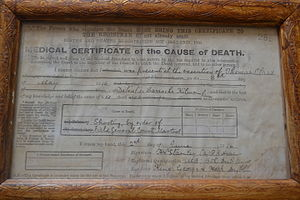 Tom Clarke (Irish republican) - Death Certificate of Thomas Clarke