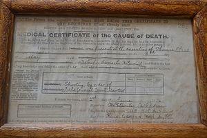 Tom Clarke (Irish republican) - Death Certificate of Thomas Clarke