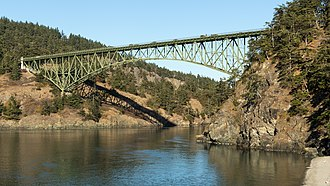 Deception Pass Bridge - Deception Pass Bridge, connecting Whidbey Island to Pass Island.