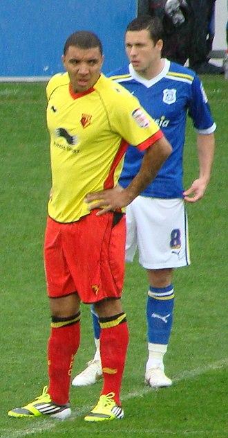 Troy Deeney - Deeney (left) playing for Watford in 2012