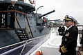 Defense.gov News Photo 110507-N-TT977-015 - Chairman of the Joint Chiefs of Staff Adm. Mike Mullen U.S. Navy pulls away from the Russian World War I era cruiser Aurora in St. Petersburg.jpg