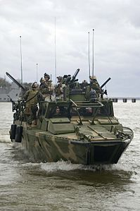 Defense.gov News Photo 111207-N-PC102-143 - U.S. Marines with Riverine Squadron 1 conduct patrol and interdiction operations aboard Riverine Command Boat 804 off the coast of Newport News.jpg