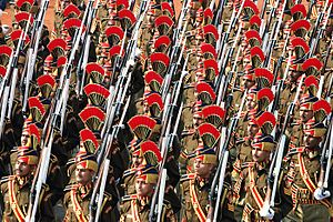 Delhi Police - Delhi Police constables performing parade at Republic Day parade