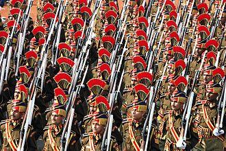 Delhi Police - Delhi Police constables performing parade at Republic Day parade