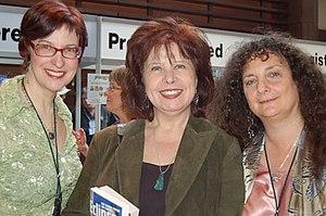 Nancy Kress - Kress (center), with Delia Sherman (left) and Ellen Datlow in 2007