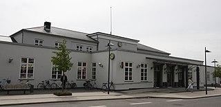 railway station in Randers Municipality, Denmark