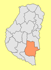 Location of Gualeguaychú Department within Entre Ríos Province