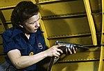 Detail, Operating a hand drill at Vultee-Nashville1a35374v (cropped).jpg