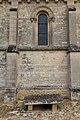 Deuxième travée du mur sud de l'église Saint-Pierre (Vaux-sur-Seulles, Calvados, France).jpg