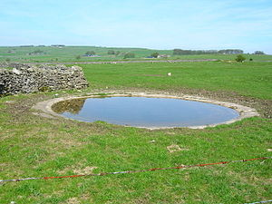 English: Dew Pond. A feature of the White Peak...