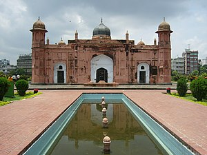 Dhaka District - Lalbagh Fort was developed by Shaista Khan.