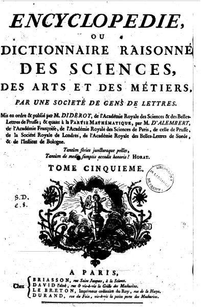 File:Diderot - Encyclopedie 1ere edition tome 5.djvu