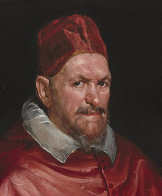 Pope Innocent X - Fragment of the Portrait of Innocent X, by Diego Velázquez