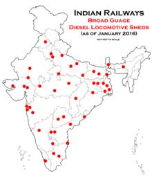 n locomotive class wdm 3a location map of the diesel locomotive sheds of n railways