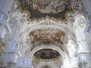 Franz Xaver Feuchtmayer - Stucco by F. X. Feuchtmayer and J. M. Feuchtmayer in the Church of St. Maria in Dießen am Ammersee