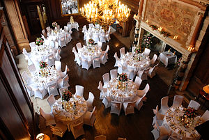 Addington Palace - Dinner in the great hall at Addington Palace