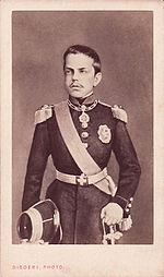 Umberto nel 1862 in un ritratto di Disdéri