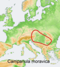 Distribution map Campanula moravica.png